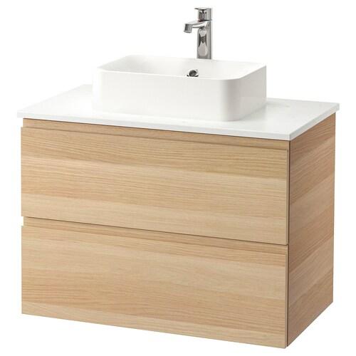 IKEA GODMORGON/TOLKEN / HÖRVIK Meuble lavabo av lav à poser 45x32