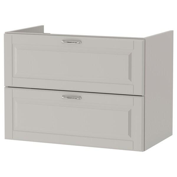 GODMORGON meuble lavabo 2tir Kasjön gris clair 80 cm 47 cm 58 cm