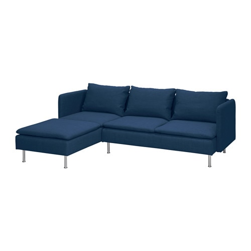 Gr vsta canap 2 places m ridienne skiftebo bleu ikea for Canape meridienne ikea