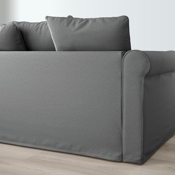 GRÖNLID Canapé 3 places, avec méridienne/Ljungen gris moyen