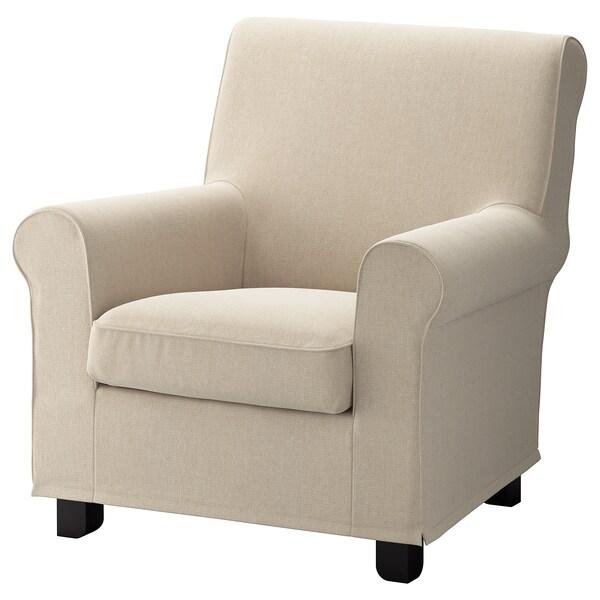 GRÖNLID Housse pour fauteuil, Sporda naturel