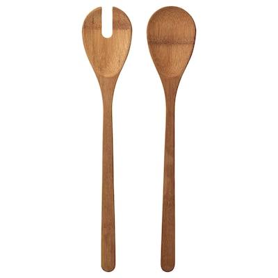 GRÖNSAKER Couverts à salade, 2 pièces, bambou