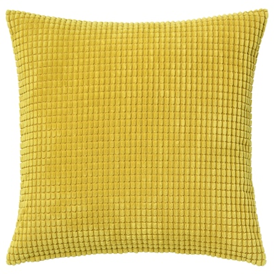 GULLKLOCKA Housse de coussin, jaune, 50x50 cm
