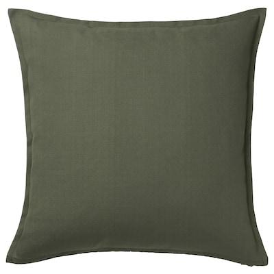 GURLI Housse de coussin, vert profond, 50x50 cm