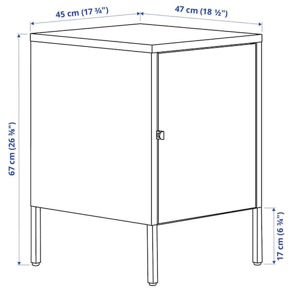 HÄLLAN Combinaison rangement portes, blanc, 45x47x67 cm