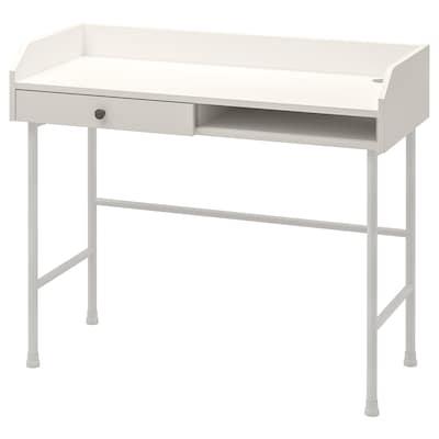 HAUGA Bureau, blanc, 100x45 cm