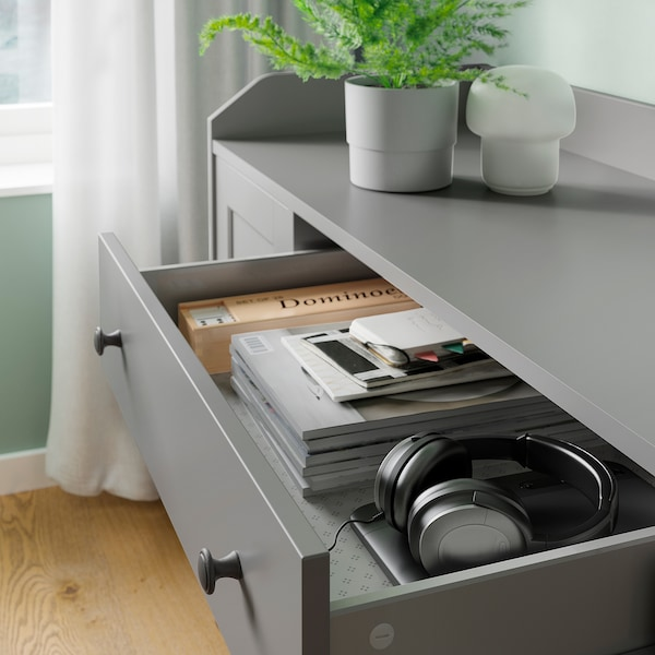 HAUGA Combinaison de rangement, gris, 279x46x199 cm