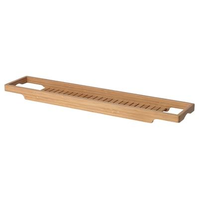 HAVERN Étagère baignoire, bambou, 70 cm