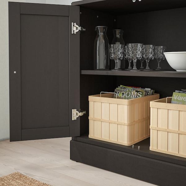 HAVSTA Combinaison rangement portes, brun foncé, 81x47x212 cm