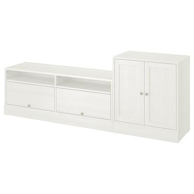 HAVSTA combinaison meuble TV blanc 241 cm 47 cm 89 cm 31 kg