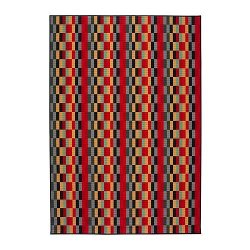 Helsinge tapis poils ras ikea - Tapis multicolore ikea ...