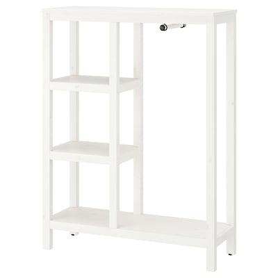 HEMNES Armoire ouverte, teinté blanc, 99x37x130 cm