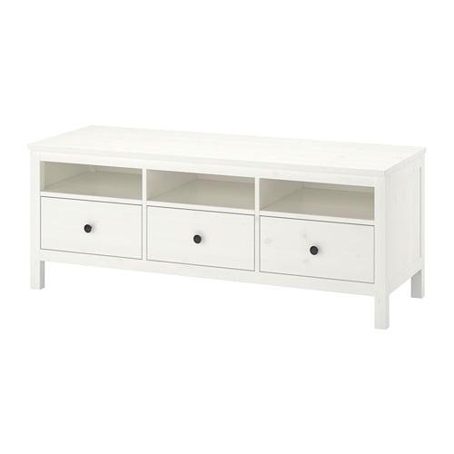Hemnes Banc Tv Teinté Blanc 148x47x57 Cm Ikea
