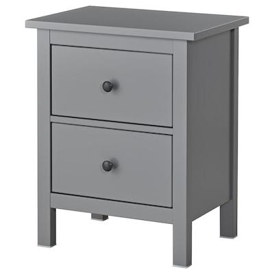 HEMNES commode 2 tiroirs gris 54 cm 38 cm 66 cm