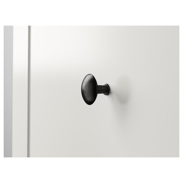 HEMNES Commode 2 tiroirs, blanc, 54x66 cm