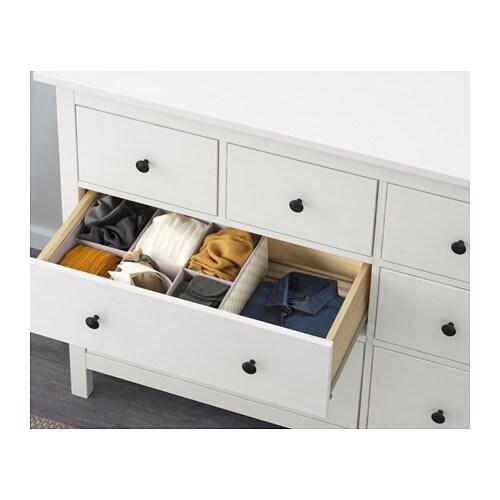 Hemnes Commode 8 Tiroirs Teinte Blanc Ikea