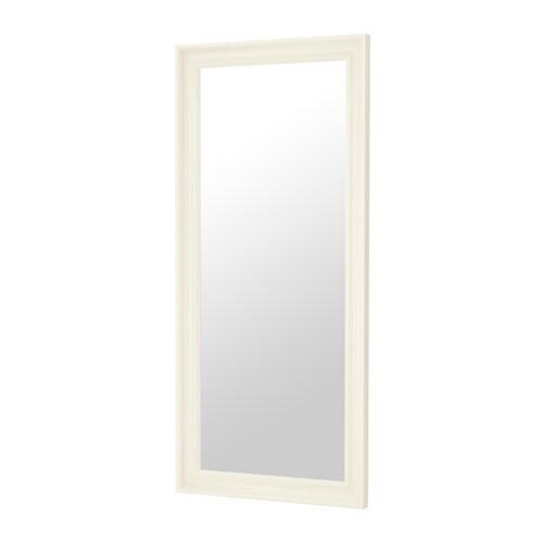 Hemnes miroir blanc ikea for Miroir noir review