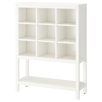 HEMNES Rangement, teinté blanc, 99x130x37 cm