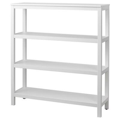 HEMNES étagère teinté blanc 120 cm 37 cm 130 cm 15 kg