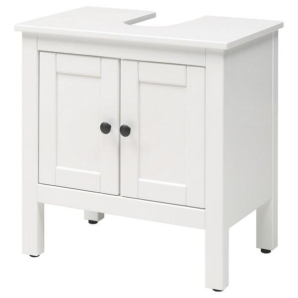 HEMNES élément bas lavabo 2 portes blanc 60 cm 38 cm 63 cm