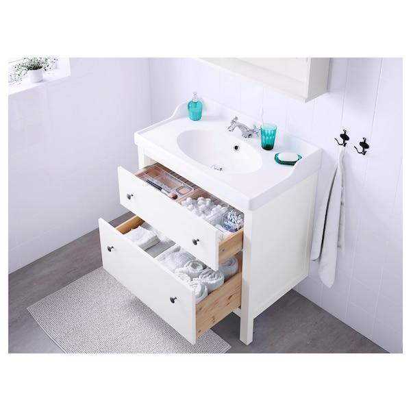 HEMNES meuble lavabo 2tir blanc 80 cm 47 cm 83 cm
