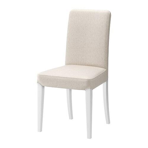 henriksdal chaise linneryd cru blanc ikea. Black Bedroom Furniture Sets. Home Design Ideas