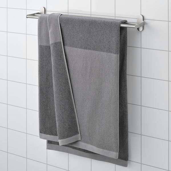 HIMLEÅN Drap de bain, gris foncé/mélange, 100x150 cm