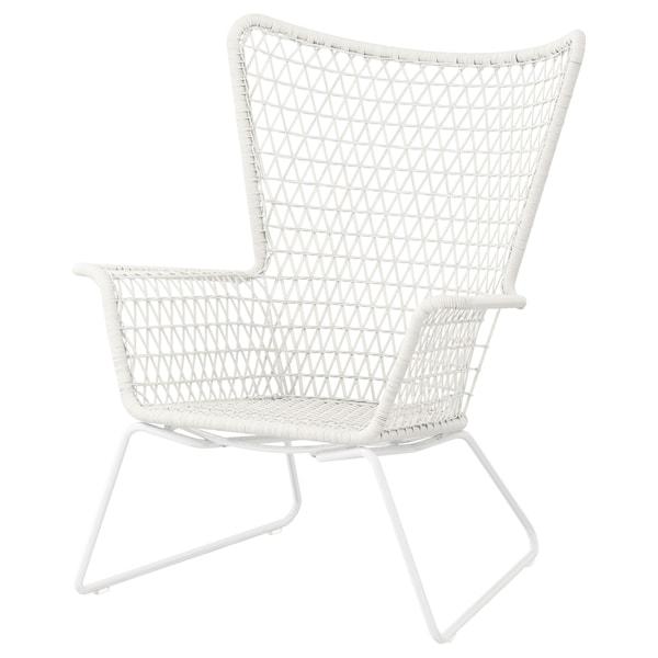 HÖGSTEN fauteuil, extérieur blanc 74 cm 78 cm 93 cm 44 cm 50 cm 33 cm
