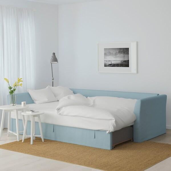 HOLMSUND Canapé convertible d'angle, Orrsta bleu clair