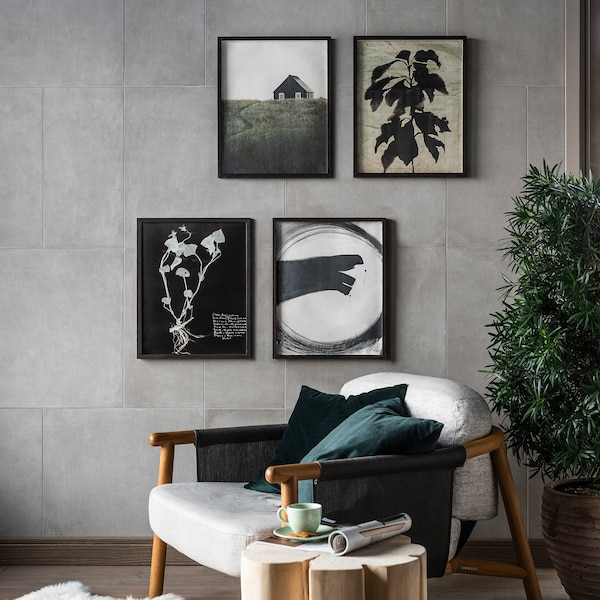 HOVSTA Cadre, brun foncé, 50x70 cm