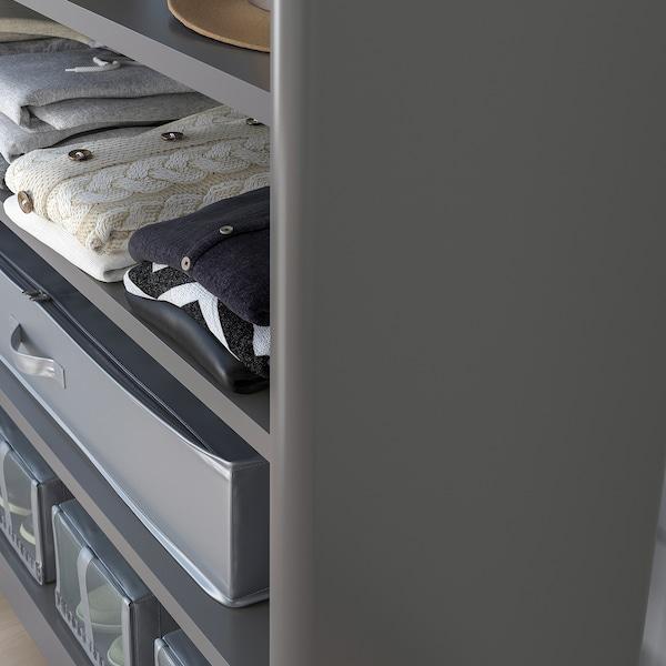 IDÅSEN Étagère, gris foncé, 120x140 cm