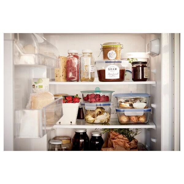 IKEA 365+ Boîte de conservation, carré verre/plastique, 600 ml