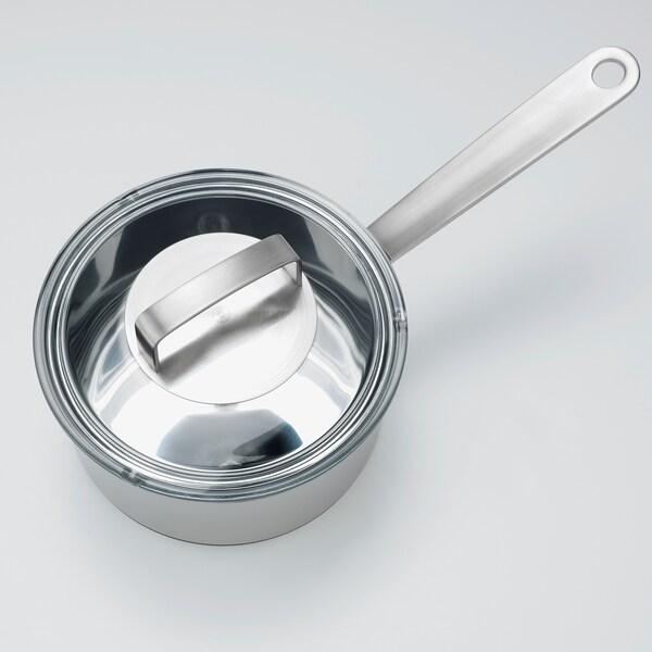 IKEA 365+ Casserole avec couvercle, acier inoxydable/verre, 2 l