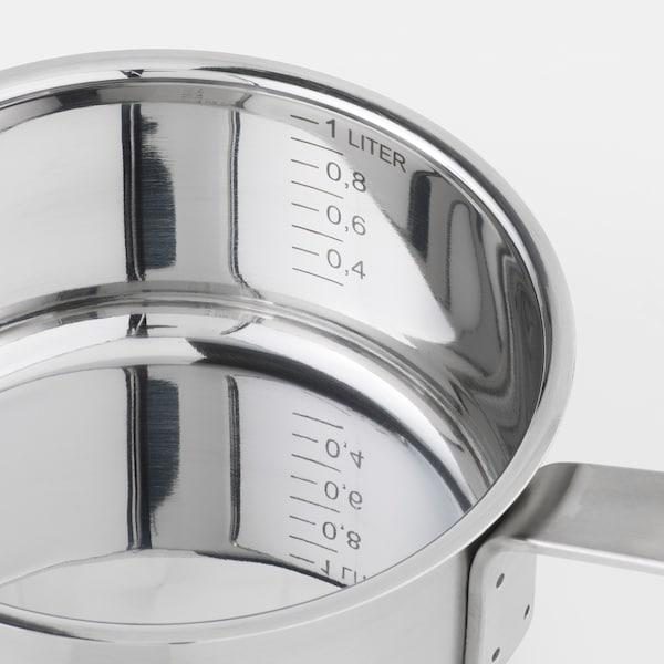 IKEA 365+ Casserole avec couvercle, acier inoxydable/verre, 1 l