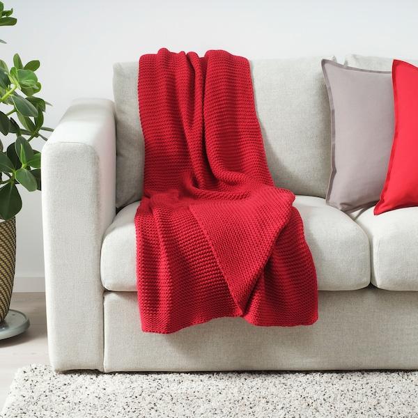 INGABRITTA Plaid, rouge, 130x170 cm