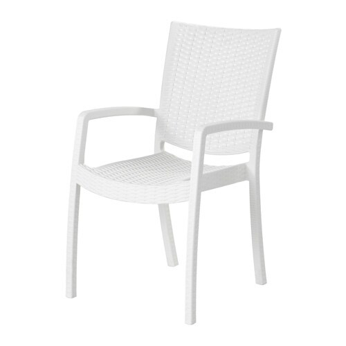 Innamo Chaise Avec Accoudoirs Exterieur Blanc Ikea