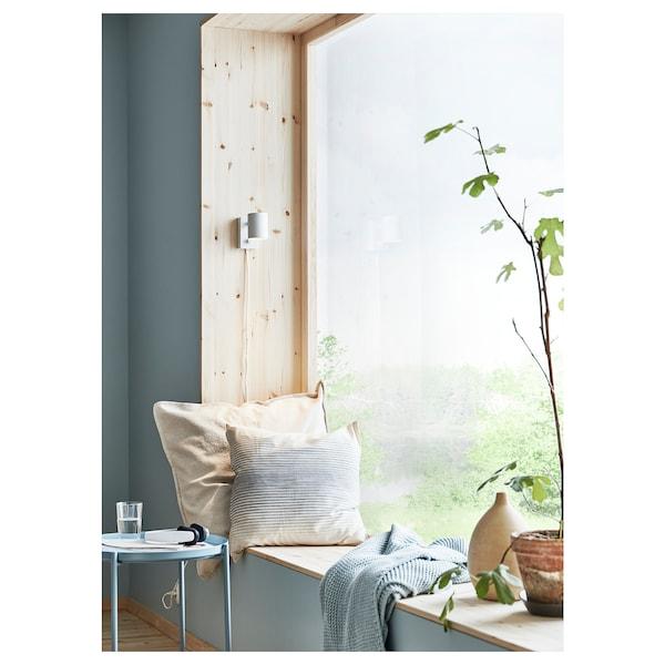 ISPIGG Housse de coussin, bleu/écru, 50x50 cm