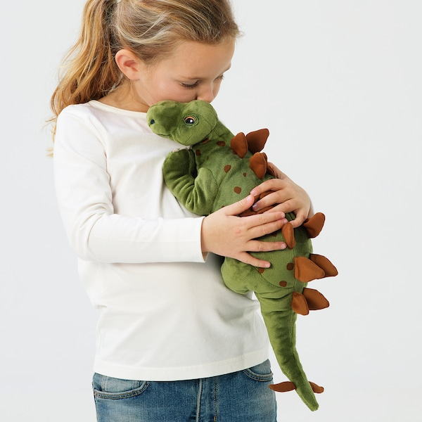 JÄTTELIK Peluche, dinosaure/dinosaure/stégosaure, 50 cm