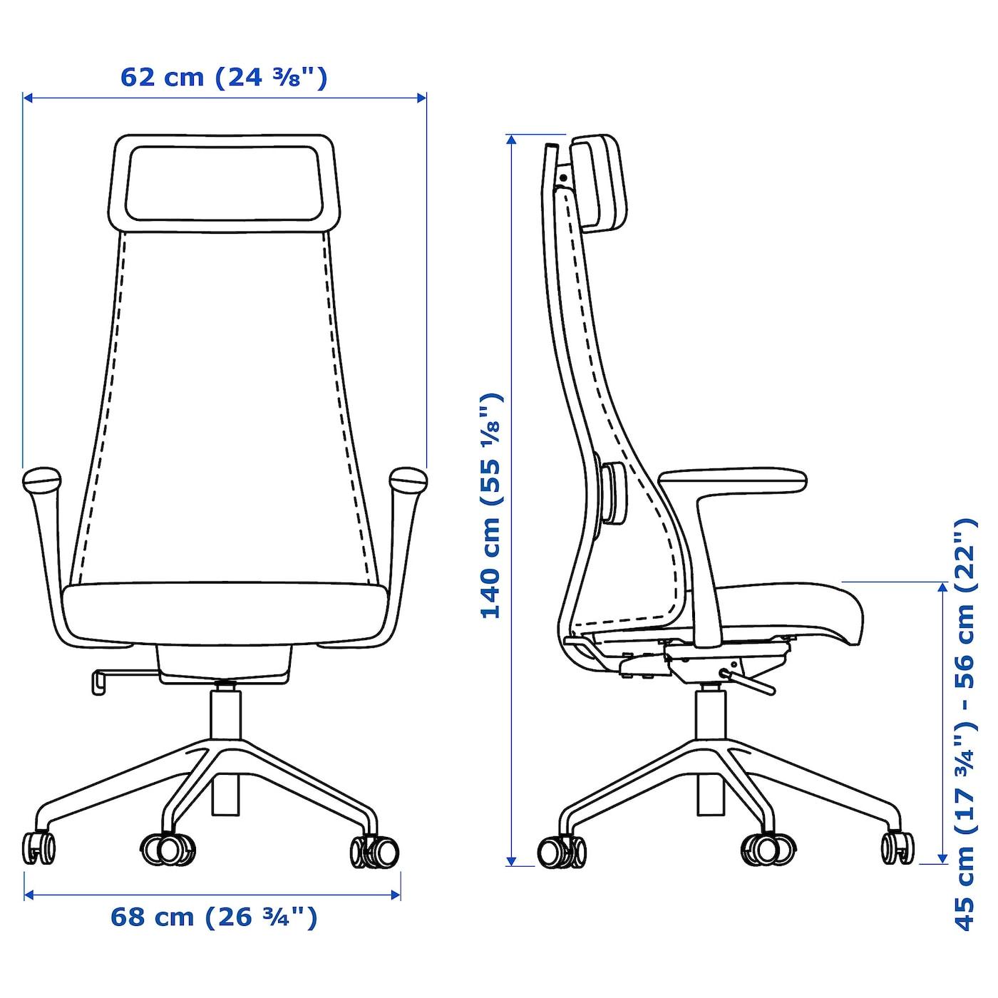 Järvfjället Bureau Chaise Noir Av AccoudoirsGlose De PuTlOZwXik