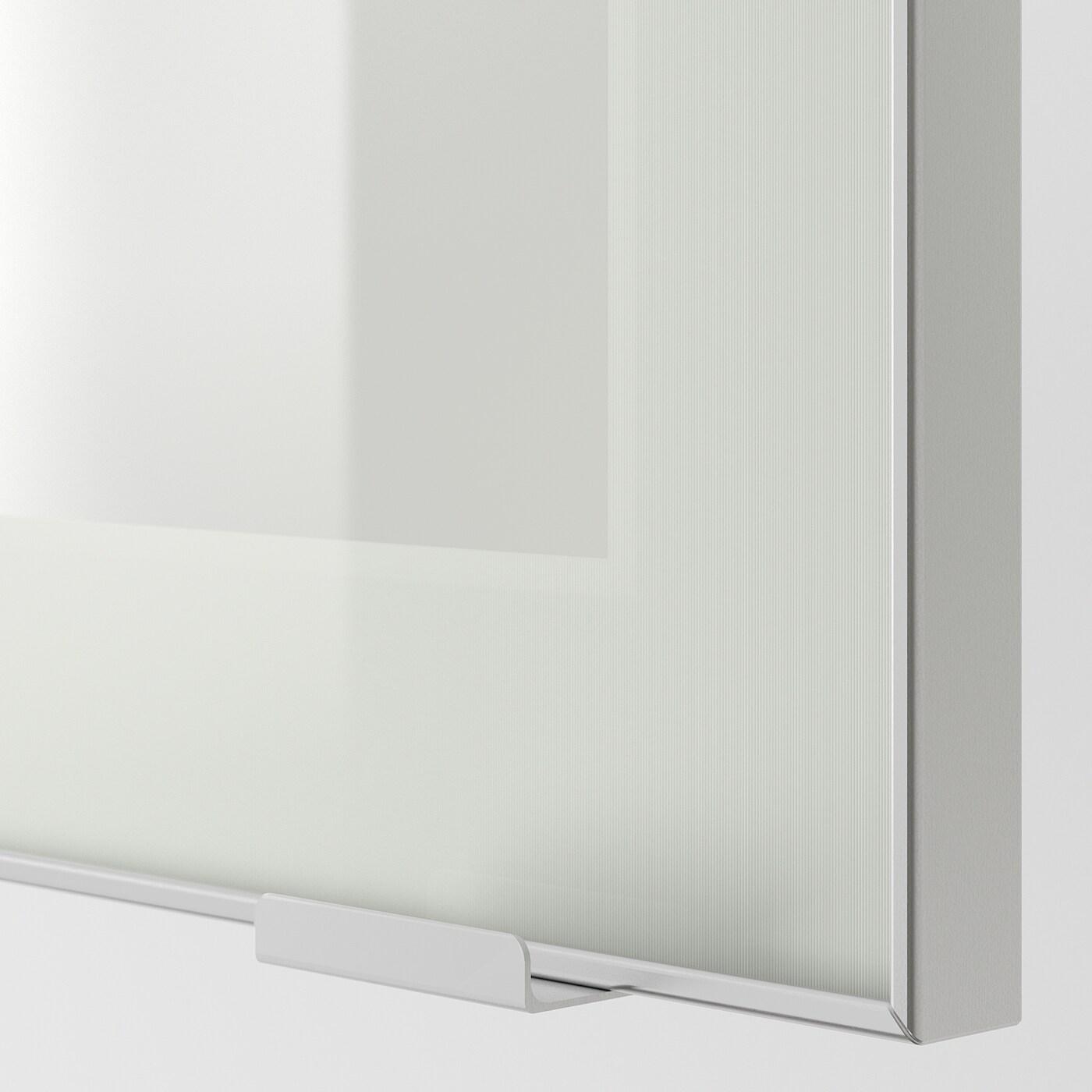 Tableau D Affichage Vitré jutis porte vitrée - verre givré, aluminium 40x80 cm