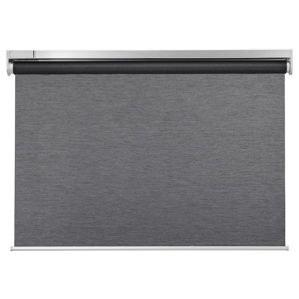 KADRILJ Store à enrouleur, sans fil/à pile gris, 140x195 cm