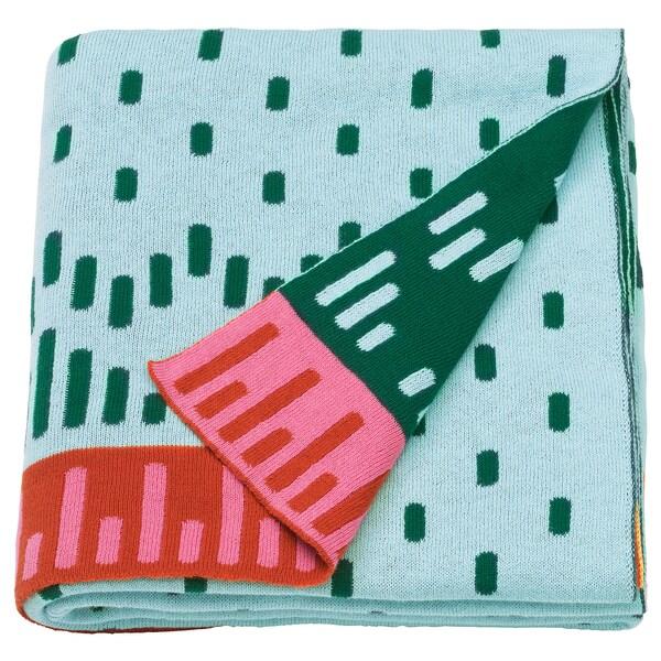 KÄPPHÄST Couverture, tricoté/multicolore, 120x150 cm