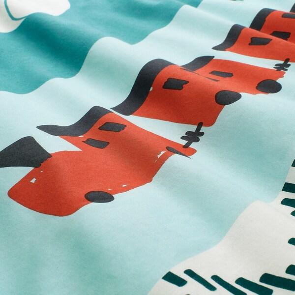 KÄPPHÄST Housse de couette et 1 taie, patchwork/jouets, 150x200/50x60 cm