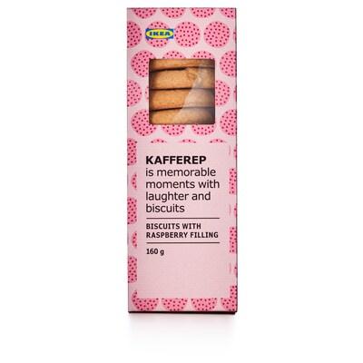 KAFFEREP Biscuits fourrés goût framboise