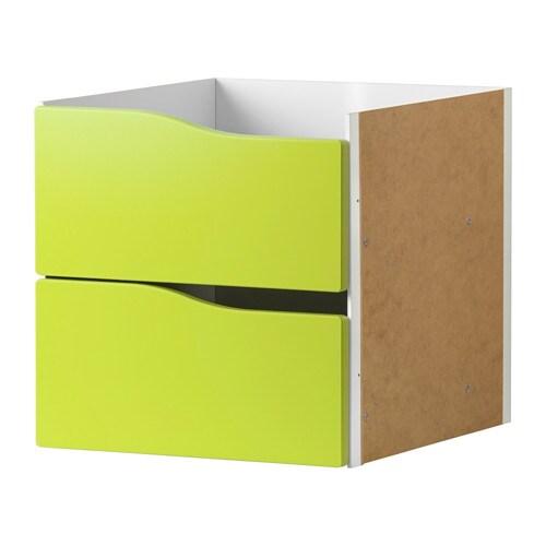 Kallax Bloc 2 Tiroirs Vert Clair Ikea