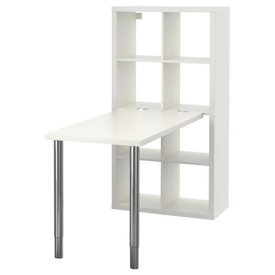 KALLAX combinaison bureau blanc/chromé 77 cm 159 cm 147 cm