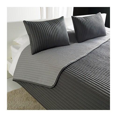 karit couvre lit et 2 housses coussin 260x280 40x60 cm. Black Bedroom Furniture Sets. Home Design Ideas