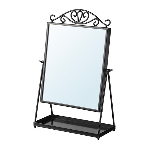 KARMSUND - Miroir de table, noir