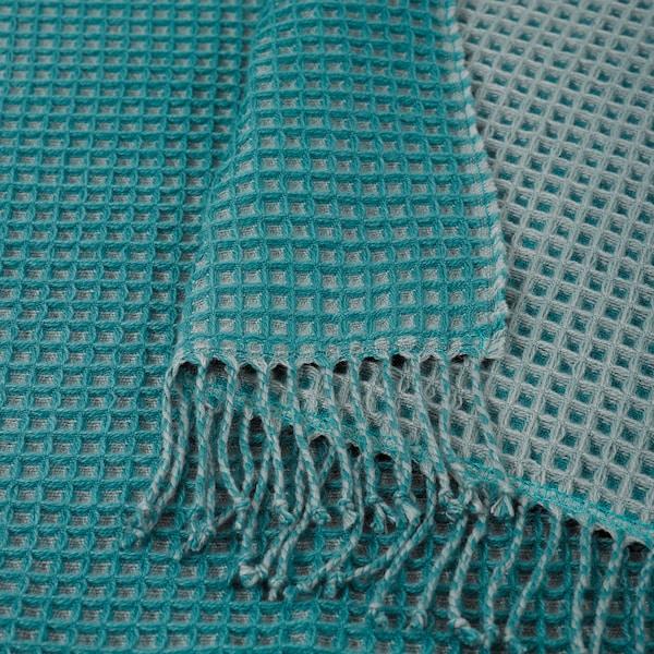KERSTI Plaid, turquoise, 150x200 cm