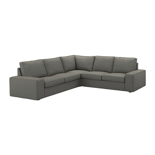 Kivik canap d 39 angle 4 places borred gris vert ikea for Canape kivik ikea convertible
